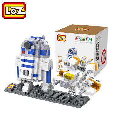 LOZ 370Pcs R2 - D2 Astronaut Robot IQ Training Family Game Perfect Gift