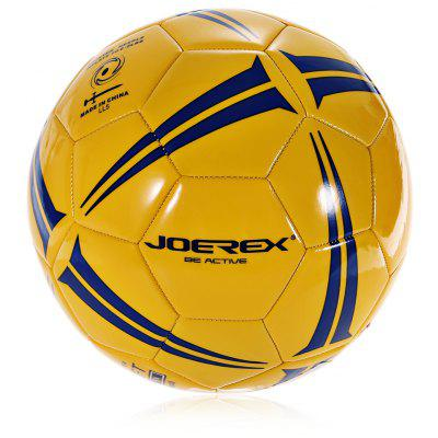 Buy JOEREX JBW505 No.5 PVC Machine-sewn Soccer Ball YELLOW for $11.60 in GearBest store