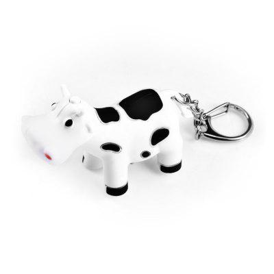 Ox Style ABS Keyring Pendant Decoration Key Chain with Light / Sound