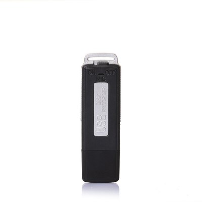 High Quality 8GB USB Flash Drive Audio Mini Hidden Digital Voice Recorder (Black)
