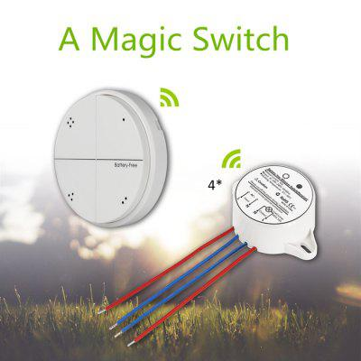 Battery - Free SIM1010 - K44 Self Powered Remote Control Light Wall Switch