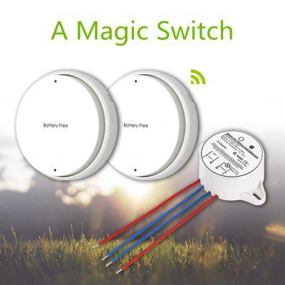 2pcs Battery - Free SIM1010 - K12 Self Powered Wireless Light Switch