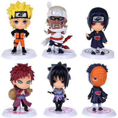 Buy COLORMIX Animation Action Figure PVC + ABS Model 6pcs / set for $7.20 in GearBest store