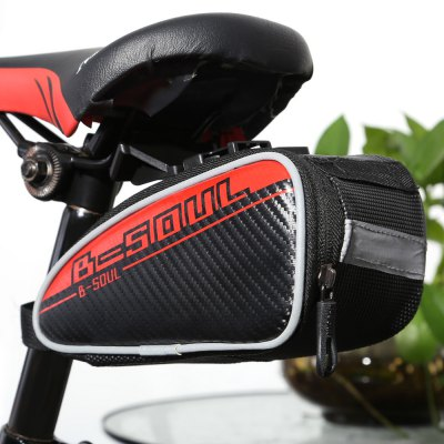 B - SOUL YA151 0.75L Reflective Bicycle Saddle Bag