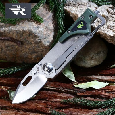Sanrenmu 6050 LUF - PP - T4 Multi-use Folding Knife / LED Light