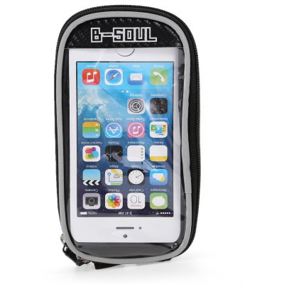 B - SOUL 07152 5.5 inch 1.5L Touch Screen Bicycle Font Tube Bag