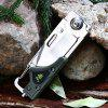 Sanrenmu 6050 LUF - PP - T4 Multi-use Folding Knife / LED Light - ARMY GREEN