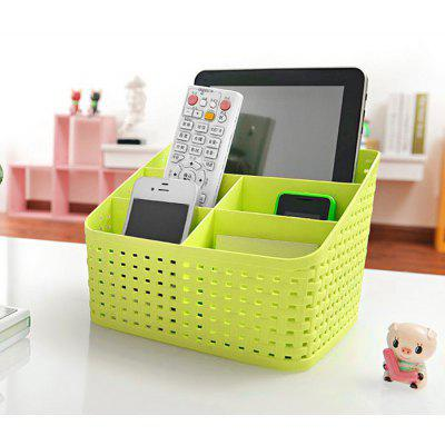 SUMSHUN Multifunctional Weave Makeup Storage Box Container