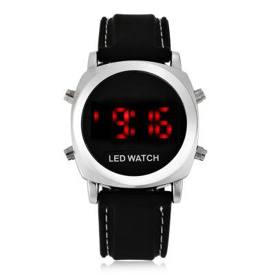 Round LED Sports Watch with Silicone Strap