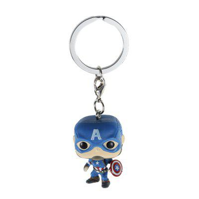 Alloy + PVC Key Chain Wallet Decoration - 1.57 inch