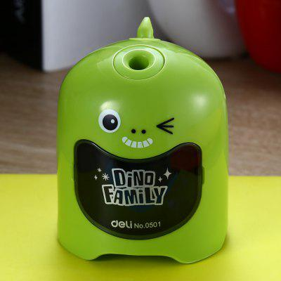 Buy GREEN Deli 0501 Cartoon Pattern Full-automatic Pencil Sharpener for $8.06 in GearBest store