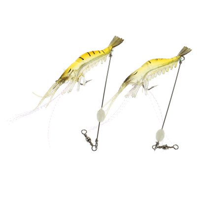 2pcs Shrimp-shaped Soft Fishing Bait Lure with Hook