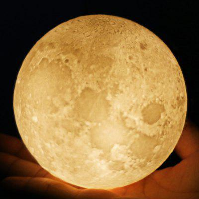 BRELONG Rechargeable 3D Printing Moon LED Night Light
