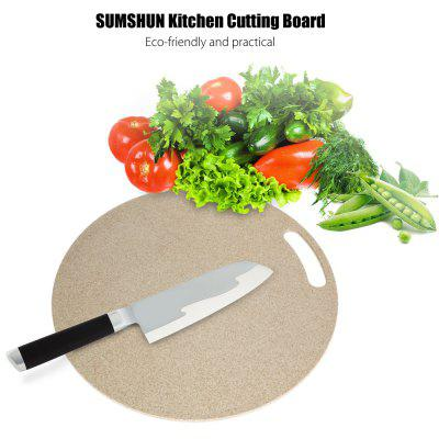 SUMSHUN Round Wheat Fiber Cutting Board for Kitchen