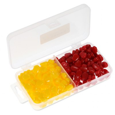 200pcs Corn-shaped Soft Fishing Bait Lure with Box