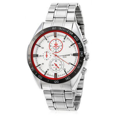 Buy WHITE AND RED KALBOR 5240 Business Decorative Sub-dial Men Quartz Watch for $9.98 in GearBest store