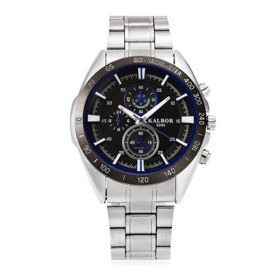 KALBOR 5240 Business Decorative Sub-dial Men Quartz WatchMens Watches<br>KALBOR 5240 Business Decorative Sub-dial Men Quartz Watch<br><br>Band material: Stainless Steel<br>Band size: 22 x 2 cm / 8.66 x 0.79 inches<br>Case material: Stainless Steel<br>Clasp type: Folding clasp with safety<br>Dial size: 4.2 x 4.2 x 1.4 cm / 1.65 x 1.65 x 0.55 inches<br>Display type: Analog<br>Movement type: Quartz watch<br>Package Contents: 1 x KALBOR 5240 Business Men Quartz Watch<br>Package size (L x W x H): 12.00 x 5.20 x 2.40 cm / 4.72 x 2.05 x 0.94 inches<br>Package weight: 0.140 kg<br>Product size (L x W x H): 22.00 x 4.20 x 1.40 cm / 8.66 x 1.65 x 0.55 inches<br>Product weight: 0.106 kg<br>Shape of the dial: Round<br>Special features: Decorative sub-dial<br>Watch color: Blue + White, Blue + Black, Red + White, Red + Black<br>Watch style: Business<br>Watches categories: Male table<br>Water resistance: Life water resistant
