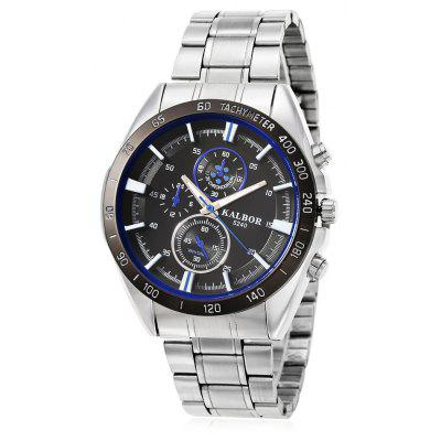 Buy BLUE AND BLACK KALBOR 5240 Business Decorative Sub-dial Men Quartz Watch for $9.98 in GearBest store