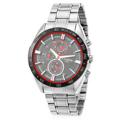 Buy RED WITH BLACK KALBOR 5240 Business Decorative Sub-dial Men Quartz Watch for $9.98 in GearBest store