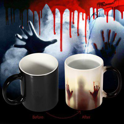 Creative Ceramic Heat Sensitive Color Changing Mug for Gifts