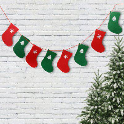 4PCS Christmas 2.5m Cute Cartoon Wave Flag Banner