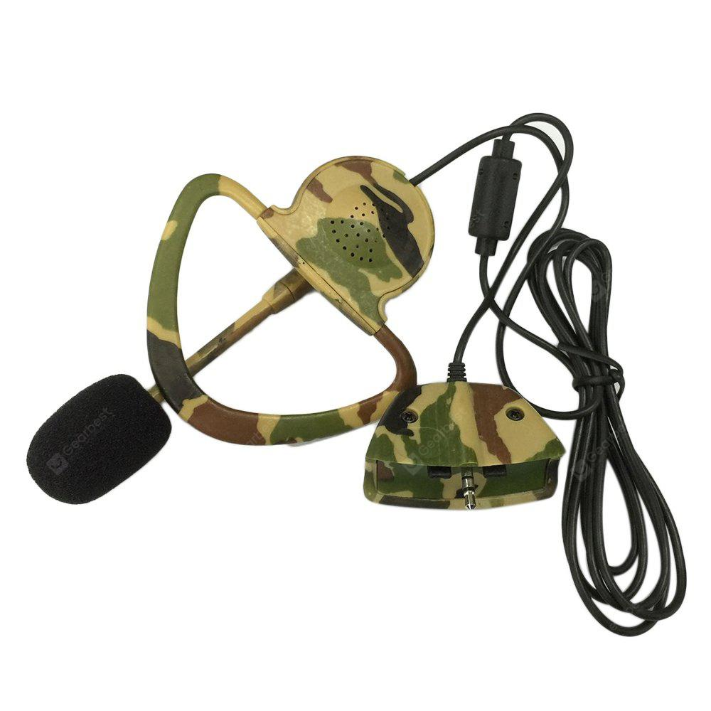 Monaural Headset Headphone with Microphone for Microsoft XBOX 360 - 2.5mm Camouflage Color