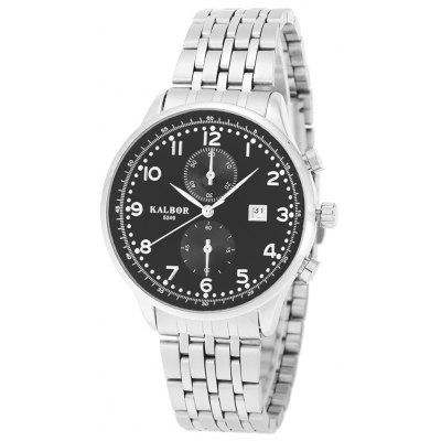 Buy BLACK AND SILVER KALBOR 5249 Business Men Quartz Watch for $11.48 in GearBest store