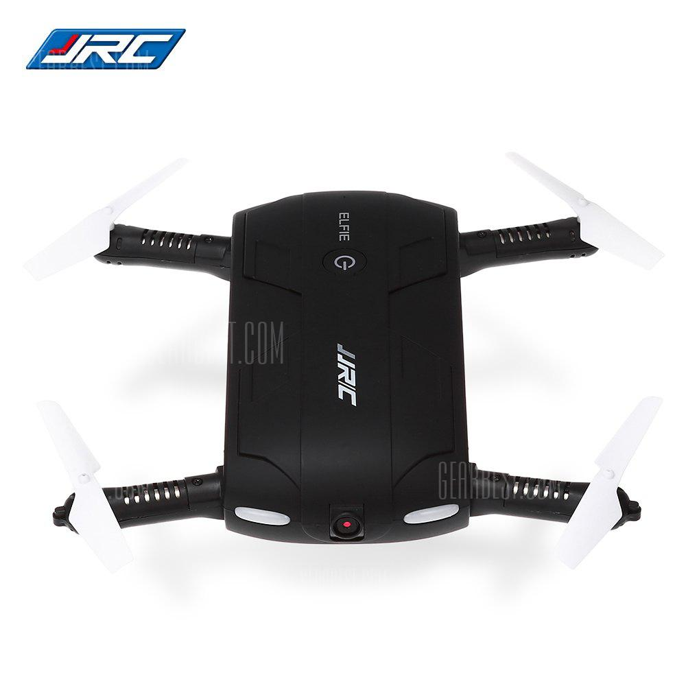 JJRC H37 ELFIE Foldable Mini RC Selfie Drone - BLACK WITH ONE BATTERY  (entrepôt EU-6)