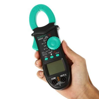 ELECALL EM202 Digital Clamp Multimeter with Backlight LCD