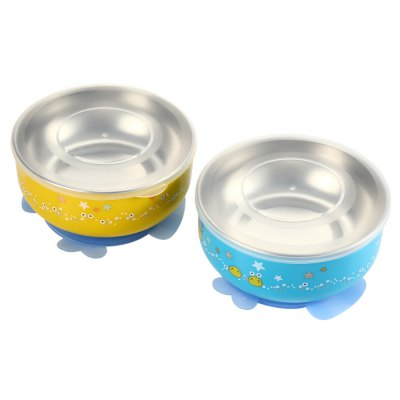 2PCS BabyMatee Baby Infant Cartoon Bowl