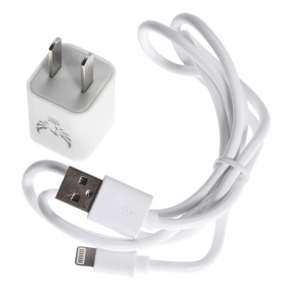 HSY K200 - i6 Travel Charger Power Adapter 8 Pin USB Cable KitiPhone Cables &amp; Adapters<br>HSY K200 - i6 Travel Charger Power Adapter 8 Pin USB Cable Kit<br><br>Cable Length (cm): 100cm<br>Color: White<br>Input: 100 - 240V<br>Interface Type: 8 pin, USB 2.0<br>Material ( Cable&amp;Adapter): ABS, PVC<br>Output: 5V 1.2A<br>Package Contents: 1 x Power Adapter, 1 x 1m USB Cable<br>Package size (L x W x H): 22.80 x 8.00 x 4.00 cm / 8.98 x 3.15 x 1.57 inches<br>Package weight: 0.099 kg<br>Plug: CN Plug<br>Product weight: 0.044 kg<br>Type: Cable, Adapters