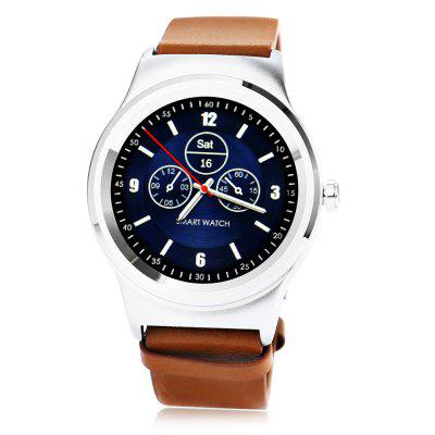 SMA - R Dual Bluetooth Smart WatchSmart Watches<br>SMA - R Dual Bluetooth Smart Watch<br><br>Alert type: Ring, Vibration<br>Available Color: Black,Brown<br>Band material: Genuine Leather<br>Band size: 20 x 2.2 cm / 7.87 x 0.87 inches<br>Battery  Capacity: 300mAh<br>Bluetooth calling: Answering,Call log sync,Dialing,Phone call reminder,Phonebook<br>Bluetooth Version: Bluetooth 3.0/4.0 Double Mode<br>Brand: SMA<br>Built-in chip type: MTK2502<br>Case material: Stainless Steel<br>Charging Time: About 2hours<br>Compatability: Android 4.4 / iOS 8.0 and above system<br>Compatible OS: Android, IOS<br>Dial size: 4.45 x 4.45 x 1.22 cm / 1.75 x 1.75 x 0.48 inches<br>Find phone: Yes<br>Groups of alarm: 5<br>Health tracker: Heart rate monitor,Pedometer,Sedentary reminder,Sleep monitor<br>IP rating: IP54<br>Language: Dutch,English,French,German,Italian,Polish,Portuguese,Russian,Spanish,Turkish<br>Locking screen: 6<br>Messaging: Message reminder<br>Notification: Yes<br>Notification type: WhatsApp, Facebook, G-mail, Twitter<br>Operating mode: Touch Screen<br>Other Function: Siri, Voice recorder, Calender, Calculator, Alarm<br>Package Contents: 1 x SMA - R Smart Band, 1 x English User Manual, 1 x Charging Cable<br>Package size (L x W x H): 9.90 x 9.90 x 7.20 cm / 3.9 x 3.9 x 2.83 inches<br>Package weight: 0.2120 kg<br>People: Female table,Male table<br>Product size (L x W x H): 20.00 x 4.45 x 1.22 cm / 7.87 x 1.75 x 0.48 inches<br>Product weight: 0.0700 kg<br>RAM: 128MB<br>Remote control function: Remote music, Remote Camera<br>ROM: 64MB<br>Screen: IPS<br>Screen resolution: 240 x 240<br>Screen size: 1.3 inch<br>Shape of the dial: Round<br>Standby time: About 5 Days<br>Type of battery: Polymer Battery<br>Waterproof: Yes