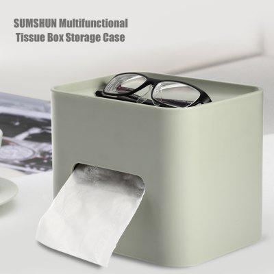 SUMSHUN Multifunctional Tissue Box Storage Case
