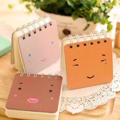5PCS Creative Mini Note Book with Cartoon Emoticon