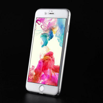 Transparent PC Case Tempered Glass Film Kit for iPhone 7 Plus