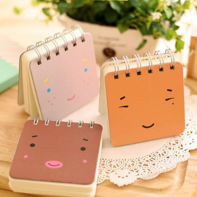 3PCS Creative Mini Note Book with Cartoon Emoticon