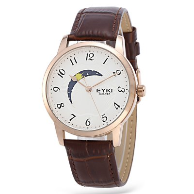 EYKI 1060 Fashion Moon Pattern Dial Men Quartz Watch
