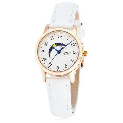 EYKI 1060 Fashion Moon Pattern Dial Lady Quartz Watch