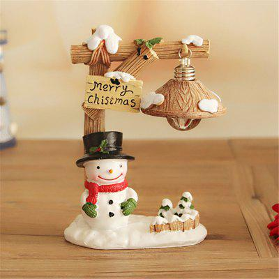 Cartoon Snowman Micro Landscape Figure Model