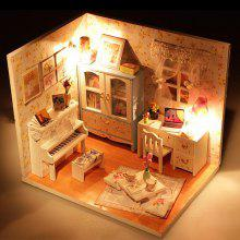 Miniature DIY Doll House Style Art Handicraft Toy