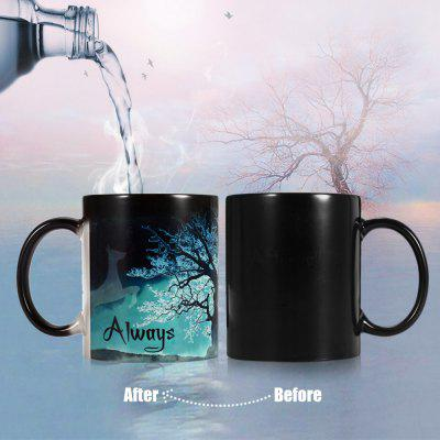 Creative Heat Sensitive Color Changing Mug Cup