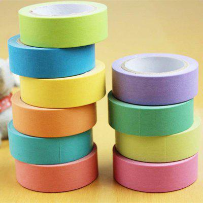 10m Creative 5PCS Colorful Paper Adhesive Tape for DIY