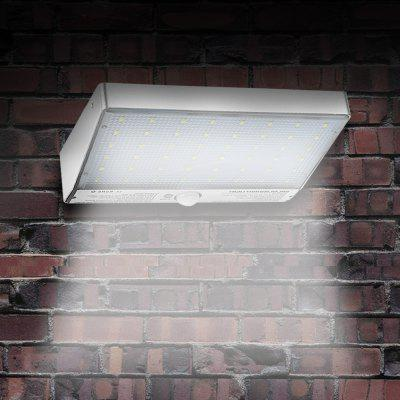 48-LED Solar Outdoor LED Wall Light