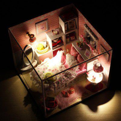 Miniature DIY House Shape Furniture Handcraft Toy