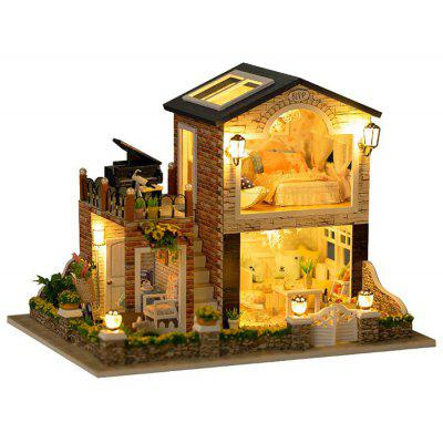 Mini DIY Doll House Shape Art Handicraft Toy