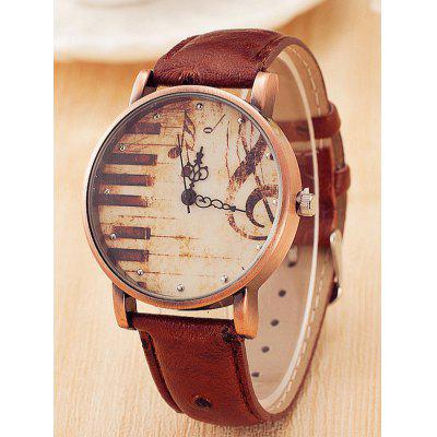 Quartz Faux Leather Watch