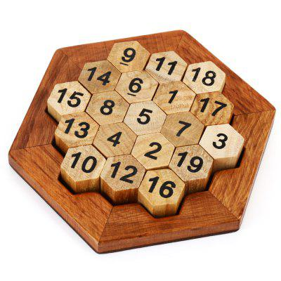 Hexagon Puzzle Number Theme Toy