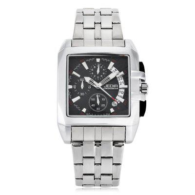 JEDIR 2018 Business Men Quartz WatchMens Watches<br>JEDIR 2018 Business Men Quartz Watch<br><br>Available Color: Black,White<br>Band material: Stainless Steel<br>Band size: 24 x 2.5 cm / 9.45 x 0.98 inches<br>Brand: JEDIR<br>Case material: Stainless Steel<br>Clasp type: Folding clasp with safety<br>Dial size: 4 x 4 x 1.5 cm / 1.57 x 1.57 x 0.59 inches<br>Display type: Analog<br>Movement type: Quartz watch<br>Package Contents: 1 x JEDIR 2018 Business Men Quartz Watch, 1 x Box<br>Package size (L x W x H): 12.30 x 9.00 x 8.60 cm / 4.84 x 3.54 x 3.39 inches<br>Package weight: 0.362 kg<br>Product size (L x W x H): 24.00 x 4.00 x 1.50 cm / 9.45 x 1.57 x 0.59 inches<br>Product weight: 0.162 kg<br>Shape of the dial: Square<br>Special features: Date<br>Watch style: Business<br>Watches categories: Male table<br>Water resistance: Life water resistant