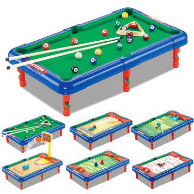 Bon DECAKER 6 In 1 Mini Pool Set Billiard Table Game Toy