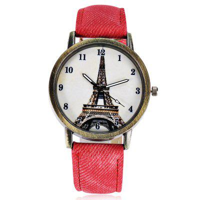 Quartz Watch with Tower Pattern / Arabic NumeralsWomens Watches<br>Quartz Watch with Tower Pattern / Arabic Numerals<br><br>Available Color: Black,Coffee,Red,White<br>Band material: Leather<br>Band size: 24 x 1.9cm / 9.45 x 0.75 inches<br>Case material: Alloy<br>Clasp type: Pin buckle<br>Dial size: 4 x 4 x 0.7cm / 1.57 x 1.57 x 0.28 inches<br>Display type: Analog<br>Movement type: Quartz watch<br>Package Contents: 1 x Tower Arabic Numerals Quartz Watch<br>Package size (L x W x H): 25.00 x 5.00 x 1.70 cm / 9.84 x 1.97 x 0.67 inches<br>Package weight: 0.049 kg<br>Product size (L x W x H): 24.00 x 4.00 x 0.70 cm / 9.45 x 1.57 x 0.28 inches<br>Product weight: 0.029 kg<br>Shape of the dial: Round<br>Watch style: Retro<br>Watches categories: Female table<br>Wearable length: 18 - 21.5cm / 7.09 - 8.46 inches
